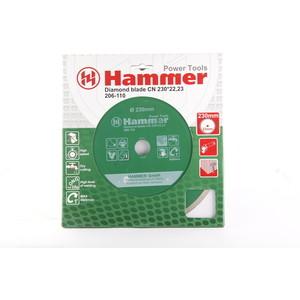 Диск алмазный Hammer 206-110 DB CN 230x22 мм диск алмазный sparta turbo 230x22 2 мм 731275