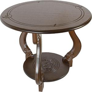 Стол журнальный Мебелик Грация (М) тёмно-коричневый