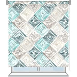 Рулонная штора Волшебная ночь 80x175 Стиль Лофт Рисунок Geometric