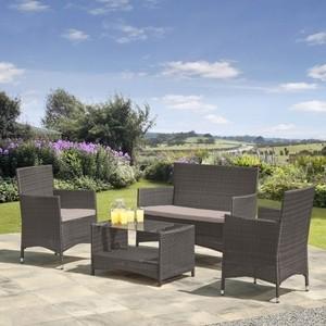 Комплект мебели из искусственного ротанга Afina garden AFM-2025G grey