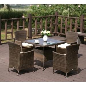 Комплект мебели из искусственного ротанга Afina garden AFM-410SL90x90 4Pcs brown (4+1) цена