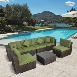 Комплект мебели из искусственного ротанга Afina garden YR822BG brown/green