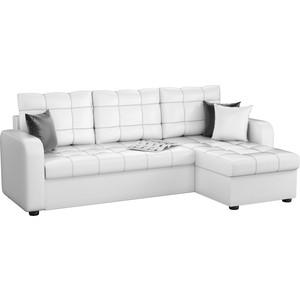 Угловой диван Мебелико Ливерпуль эко-кожа белый правый угол