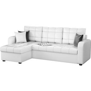 Угловой диван Мебелико Ливерпуль эко-кожа белый левый угол угловой диван мебелико камелот эко кожа белый левый угол