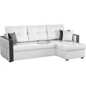 Угловой диван Мебелико Валенсия эко-кожа белый правый угол