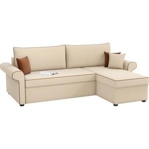 Угловой диван Мебелико Милфорд рогожка бежевый правый угол