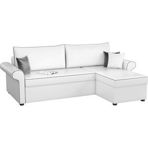 Угловой диван Мебелико Милфорд эко-кожа белый правый угол диван угловой мебелико атлантис эко кожа белый правый