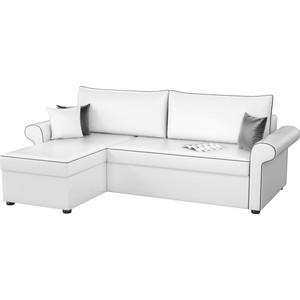 Угловой диван Мебелико Милфорд эко-кожа белый левый угол угловой диван мебелико камелот эко кожа белый левый угол