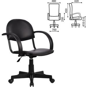 Кресло оператора Метта MP-70PL с подлокотниками кожзам черное ш/к 88025