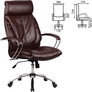 Кресло офисное Метта LK-13CH кожа хром коричневое ш/к 86809