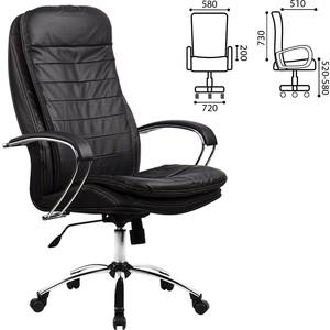 Кресло офисное Метта LK-3CH кожа хром черное ш/к 85307