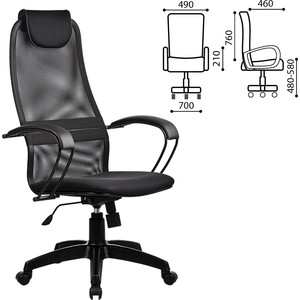 Кресло офисное Метта BP-8PL ткань-сетка черное ш/к 80586