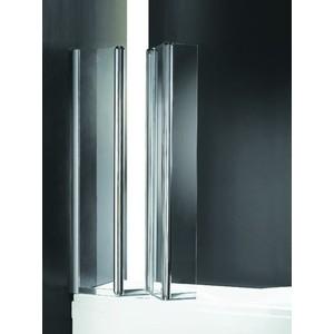 Шторка на ванну Cezares Trio W-V-3-90 Punto, хром, левая (TRIO-W-V-3-90/140-P-Cr-L) цена и фото