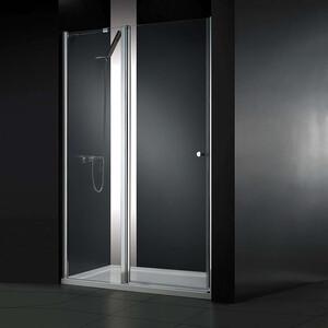 Душевая дверь Cezares Elena W-B-12 90 прозрачная, хром (Elena-W-60/30-C-Cr, VE-W-WLM-Cr)