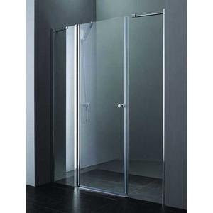 Душевая дверь Cezares Elena W-B-13 130 Punto, хром, левая (Elena-W-60/40-P-Cr-L, VE-W-30-FIX-P-Cr)