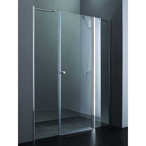Душевая дверь Cezares Elena W-B-13 130 Punto, хром, правая (Elena-W-60/40-P-Cr-R, VE-W-30-FIX-P-Cr)