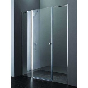 Душевая дверь Cezares Elena W-B-13 160 Punto, хром, левая (Elena-W-60/40-P-Cr-L, VE-W-60-FIX-P-Cr)