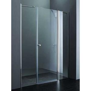 Душевая дверь Cezares Elena W-B-13 195 прозрачная, хром (Elena-W-60/40-C-Cr, VE-W-100-FIX-C-Cr)