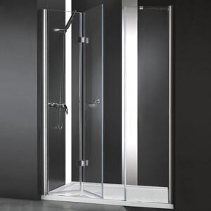 Душевая дверь Cezares Elena W-BS-13 110 прозрачная, хром (Elena-W-40/40-C-Cr, VE-W-30-FIX-C-Cr)