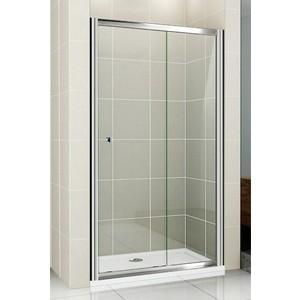 Душевая дверь Cezares Pratico BF-1 110 прозрачная, хром (Pratico-BF-1-110-C-Cr)
