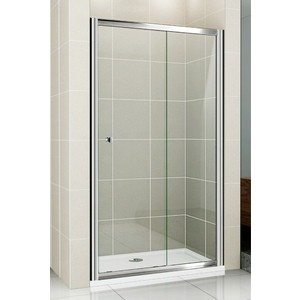Душевая дверь Cezares Pratico BF-1 115 прозрачная, хром (Pratico-BF-1-115-C-Cr)