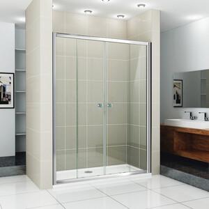 Душевая дверь Cezares Pratico BF-2 160 прозрачная, хром (Pratico-BF-2-160-C-Cr)