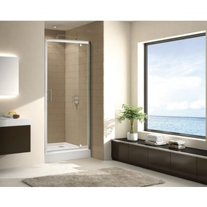 Душевая дверь Cezares Eco O-BA-1 90 прозрачная, хром (Eco-O-BA-1-90-C-Cr) все цены