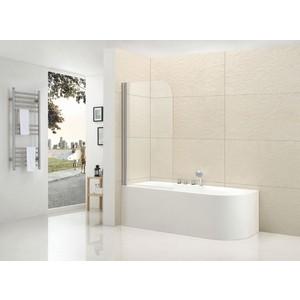 Шторка на ванну Cezares Eco O-V-1-80 Punto, хром, левая (ECO-O-V-1-80/140-P-Cr-L)