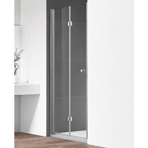 Душевая дверь Cezares Eco O-BS-12 80 прозрачная, хром (Eco-O-40/40-C-Cr, Eco-O-WLM-Cr)