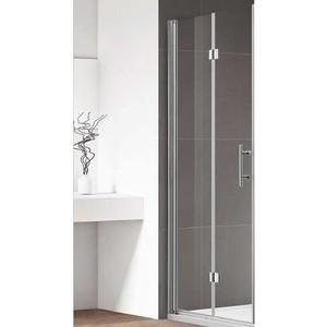 Душевая дверь Cezares Eco O-BS-12 90 прозрачная, хром (Eco-O-45/45-C-Cr, Eco-O-WLM-Cr)