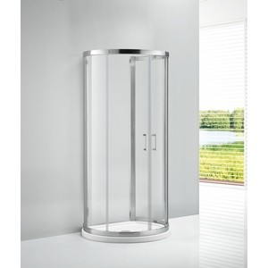 Душевой уголок Cezares Eco-O-2 100х85 прозрачный, хром, (Eco-O-2-100/85-C-Cr)