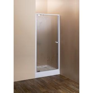 Душевая дверь Cezares Rosa BA-1 80 матовая с рисунком Rosa, белый (Rosa-BA-1-80-RO-Bi)