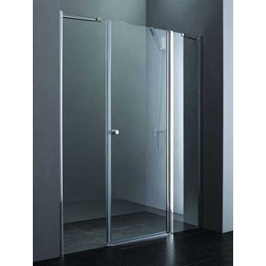 Душевая дверь Cezares Elena W-B-13 185 прозрачная, хром (Elena-W-60/30-C-Cr, VE-W-100-FIX-C-Cr)