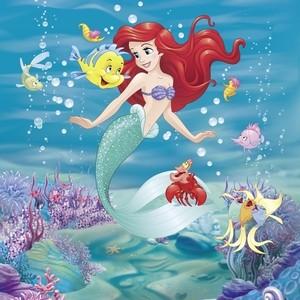 Фотообои Komar Disney Поющая Ариэль 184х254 см бумажные (4-4020)