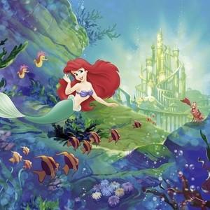 Фотообои Komar Disney Замок Ариэль 368х254 см бумажные (8-4021)