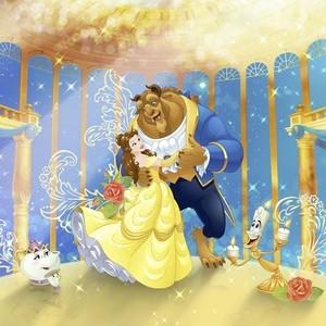Фотообои Komar Disney Красавица и Чудовище 368х254 см бумажные (8-4022)