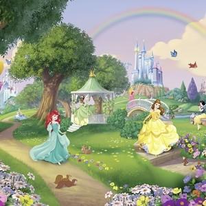 Фотообои Komar Disney Принцессы с радугой 368х254 см бумажные (8-449)