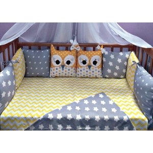 цена Комплект в кроватку Бомбус 10 предметов Совята розовый УТ000006590 онлайн в 2017 году