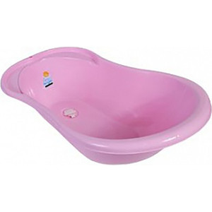 Ванночка Little Angel Ангел с термометром и сливом 84см розовый УТ000003581