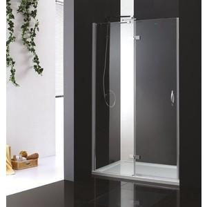 Душевая дверь Cezares Bergamo W-B-12 100 прозрачная, хром, левая (Bergamo-W-60/40-C-Cr-L, VE-W-WLM-Cr)
