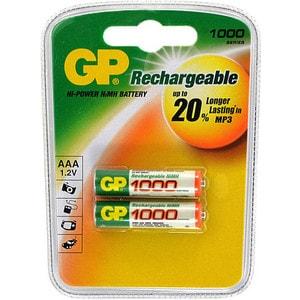 Аккумулятор GP R3, AAA, 1000 mAh, (2шт) аккумулятор aaa ansmann r03 1000 mah ni mh 2 штуки 5030892