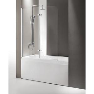Шторка на ванну Cezares Eco O-V-21-120 Punto, хром, левая (ECO-O-V-21-120/140-P-Cr-L)