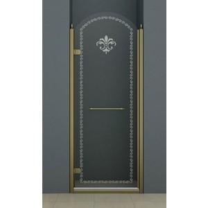 Душевая дверь Cezares Retro A-B-1 90 Punto, бронза, левая (Retro-A-B-1-90-CP-Br-L)