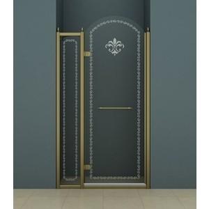 Душевая дверь Cezares Retro A-B-12 120 Punto, бронза, левая (Retro-A-30-FIX-CP-Br, Retro-A-B-1-90-CP-Br-L)