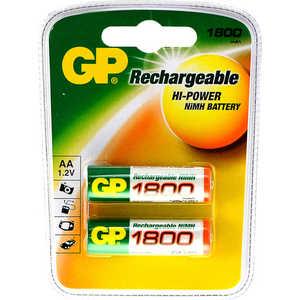 Аккумулятор GP R6, AA, 1800 mAh, (2шт/блистер) аккумуляторы hr06 aa duracell turbo ni mh 2400 2500 mah 2шт