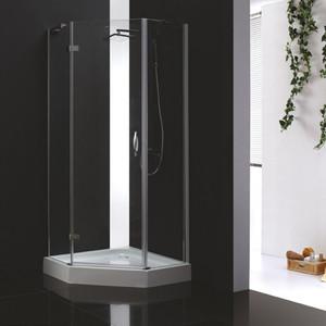 цена на Душевой уголок Cezares Bergamo W-P-1 100х100 прозрачный, хром (Bergamo-W-P-1-100-C-Cr-L-IV)