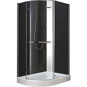 Душевой уголок Cezares BERGAMO-W-RH-1-120/100-ARCO-C-Cr-R-IV правый, с поддоном, профиль хром, стекло прозрачное