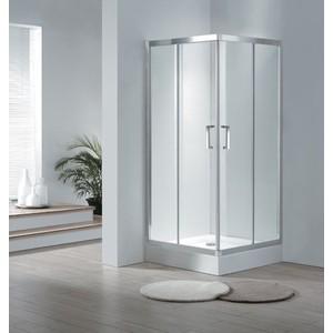 Душевой уголок Cezares Porta D A-2 100х100 прозрачный, хром, (Porta-D-A-2-100-C-Cr)