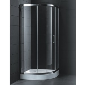 Душевой уголок Cezares Porta D R-1 90х90 прозрачный, хром, (Porta-D-R-1-90-C-Cr)