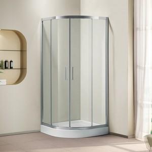 Душевой уголок Cezares Porta D R-2 100х100 прозрачный, хром, (Porta-D-R-2-100-C-Cr)